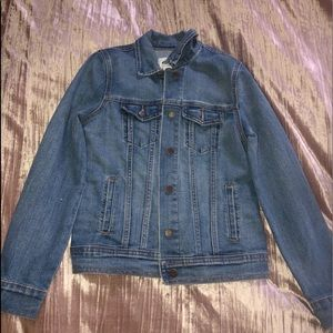 Slightly worn denim jacket